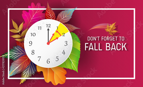 Day Light Savings Time End - Don't Forget To Fall Back.