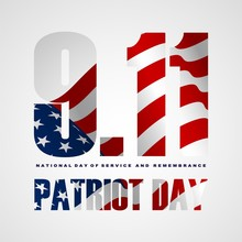 9/11 Patriot Day Background, Patriot Day September 11, 2001 Poster Template.