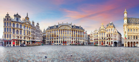 Fototapeta Panorama of Brussels, Belgium