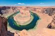 Leinwandbild Motiv Arizona Landscape - Horseshoe Bend meander of Colorado River in Glen Canyon