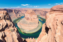 Horseshoe Bend Meander Of Colorado River In Glen Canyon