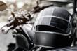 helmet on mototcycle seat