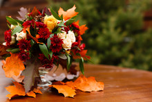Autumn Flower Composition With...
