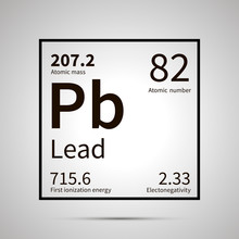 Lead Chemical Element With Fir...