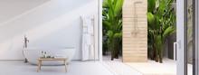 New Modern Zen Bathroom With T...