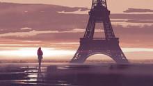 Alone In Paris, Woman Looking ...