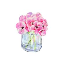 Glass Jar With Hydrangea Flowe...