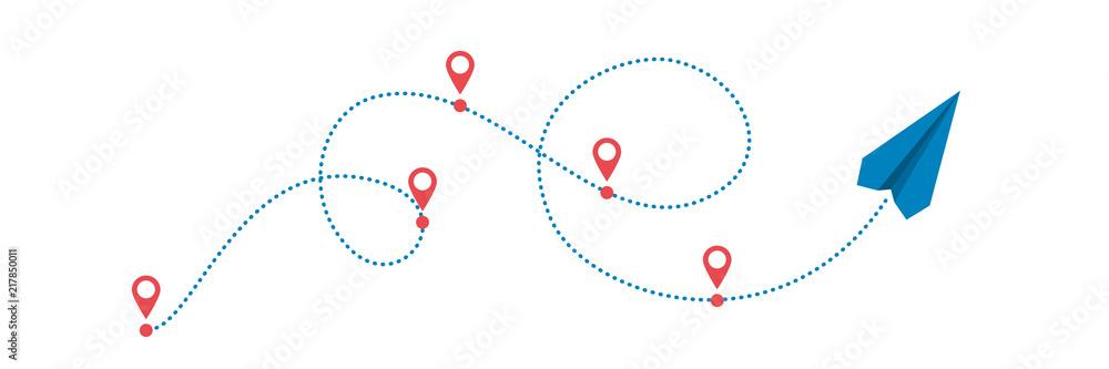 Fototapeta plane and path