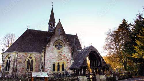 Luss Parish Church on the banks of Loch Lomond in Scotland. Canvas Print