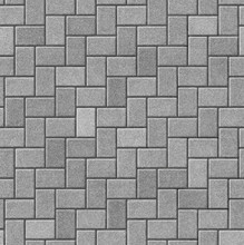 Herringbone Pattern Paving Sea...