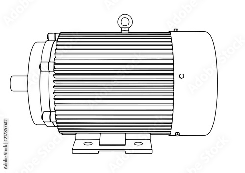 Fototapeta outline electric motor vector