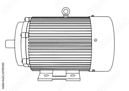 Fotografija outline electric motor vector