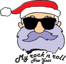 Rock-n-roll New Years Santa Cl...