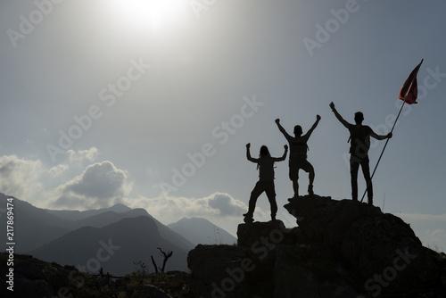 başarılı toros dağları tırmanışı ve hedef sevinci Canvas Print