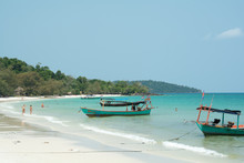 Coast In Koh Rong Island ,Camb...