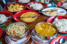 Nepalese Trekking Food On The Mountain