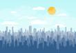 City skyline vector.