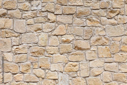 Fotografie, Obraz  Wall of light, yellow Sandstone. Background image, texture.