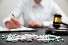 Medicine Law Concept. Judges G...