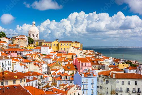 Fotografia, Obraz Lisbon, Portugal Skyline