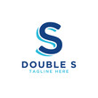 Initial letter s double logo design template