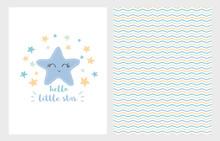 Hello Little Star Vector Illus...