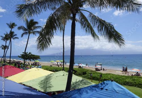 Foto op Aluminium Oceanië A Kaanapali Beach Scene, West Maui, Hawaii