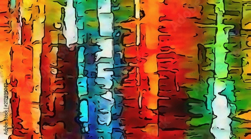 Visual modern pop art Canvas Print
