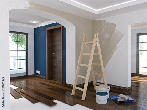 Obraz Repair in the apartment 8 - fototapety do salonu