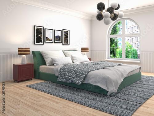 Posters In Slaapkamer : Wit slaapkamer hoek twee posters u stockfoto denisismagilov
