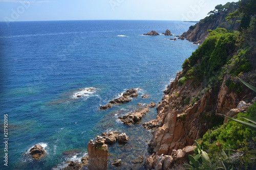 Tuinposter Centraal-Amerika Landen Costa Brava. Spain. Mediterranean sea. Rocky shore