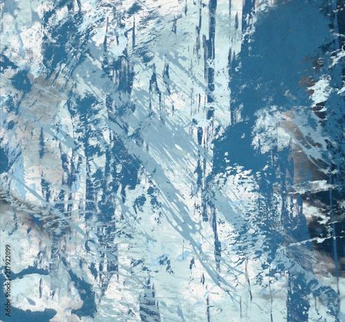 Fotobehang Gletsjers Abstract modern art. Ink painting.