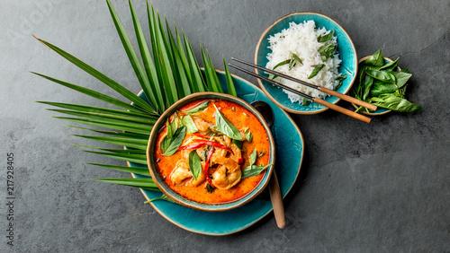 Foto THAI SHRIMPS RED CURRY