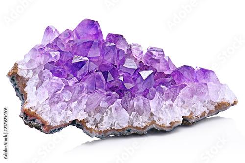 Violet Crystal Stone macro mineral Wallpaper Mural