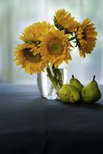 Sun Flowers In A Vase