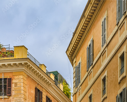 Old Style Apartment Buildings Rome Italy