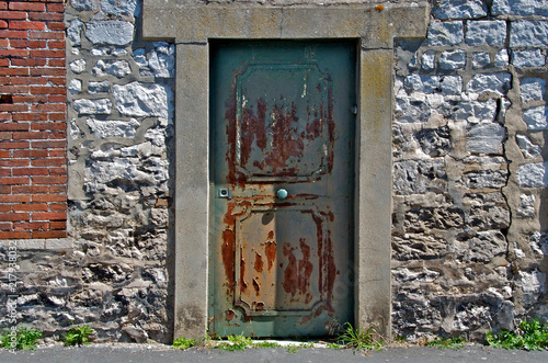 Fotografie, Obraz  Door with Stone Lentel,  Vernon, France
