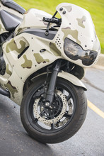 Camo Motorcycle Front Wheel