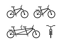 Bicycle Icon Pictogram. Classi...