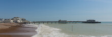 Worthing Beach And Pier West Sussex Panoramic View