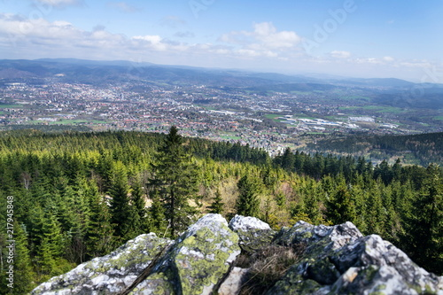 Obraz na plátně  Rock formation Virive kameny - Whirling Stones under Jested mountain peak with L