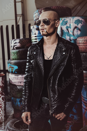 Fotografía stylish punk guy