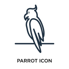 Parrot Icons Isolated On White Background. Modern And Editable Parrot Icon. Simple Icon Vector Illustration.