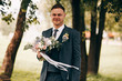 canvas print picture - Wedding photo of the groom