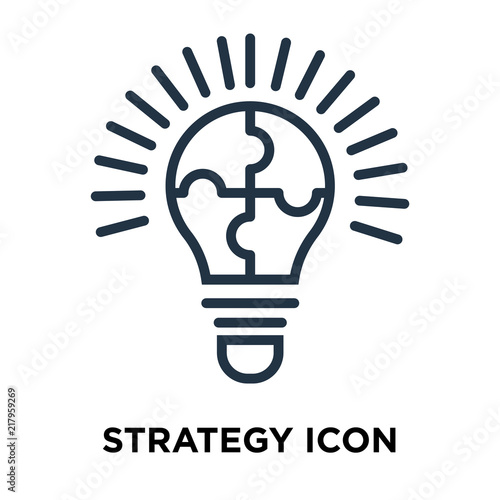 Pricing Strategy Icon: Strategy Icon Isolated On White Background. Modern And