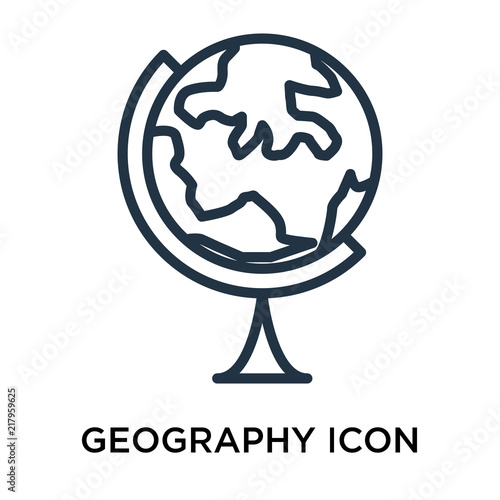 Fotografia  geography icons isolated on white background