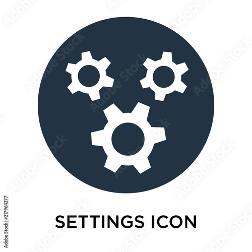 settings icon isolated on white background  Simple and editable