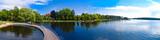 Fototapeta Na ścianę - Panorama of the Lake in Szczecinek - Landscape in Poland