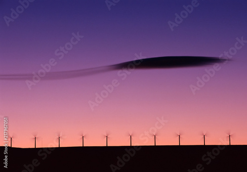 Wind farm and lenticular cloud