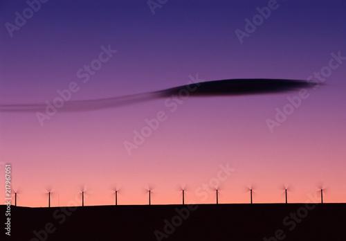 Wind farm and lenticular cloud